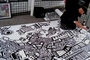 graffiti drawing,street artist