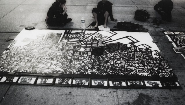 graffiti drawings, black and white