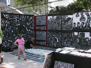 graffiti mural, outdoor art display