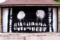 graffiti street art, scary faces