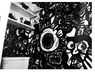 graffiti wall art, indoor murals