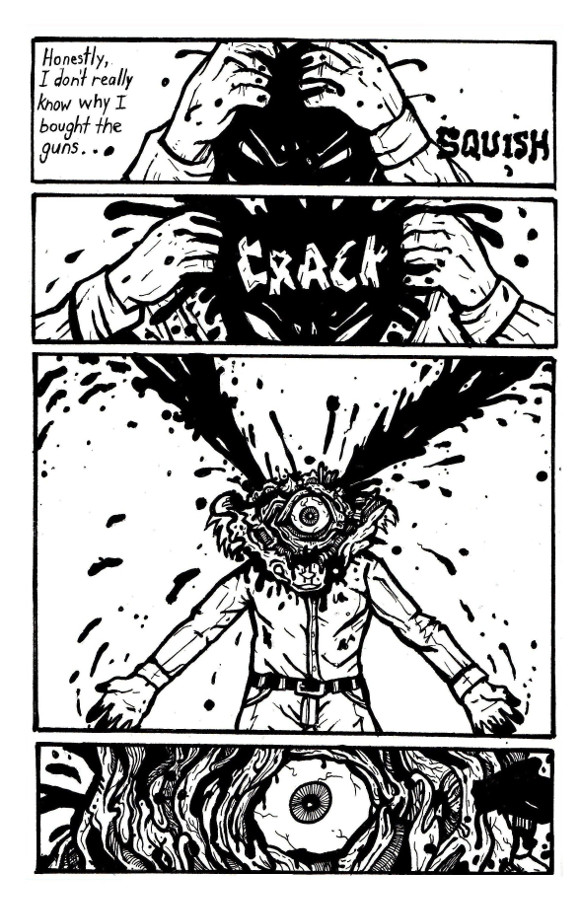 online comic books, body horror