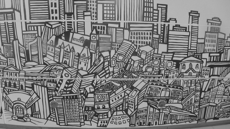 Toronto skyline for Cn mural designs