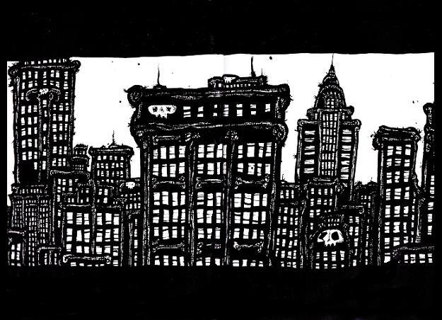 new york city, ink drawings