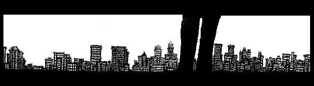 New York Drawings,pen and ink artwork, New York Skyline