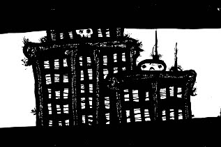 New York Drawings,pen and ink artwork, gothic art