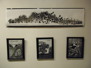 pen drawings, comic book art