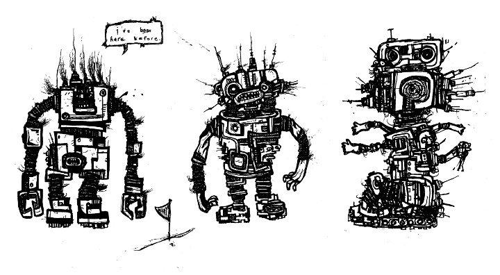 robots drawing,comics,art,underground,alternative,independent
