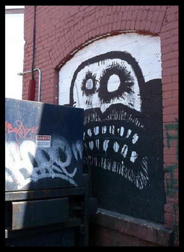 graffiti murals, monster drawings