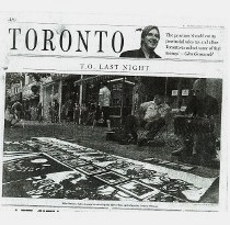 Mike Parsons,  sidewalk painting, National Post, Toronto Star