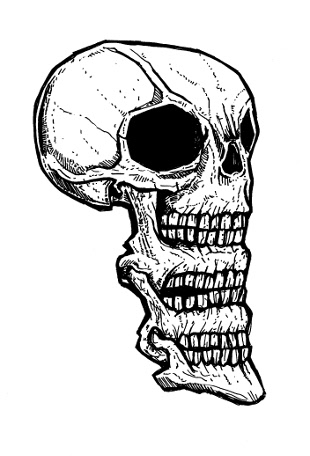 skull drawings,monsters