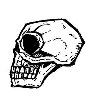 skull drawings, gothic