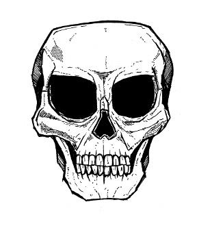 skull drawings, tattoos