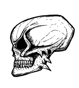 skull drawings, devil