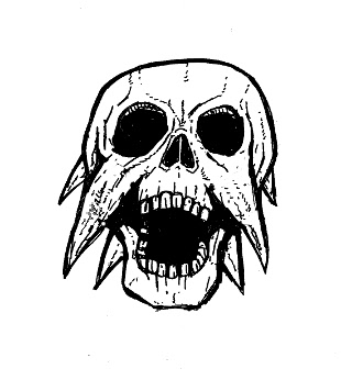 skull drawings, demon scream