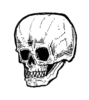 skull drawings,creepy