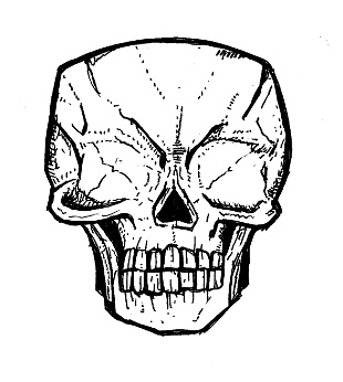 skull drawings, blind creature