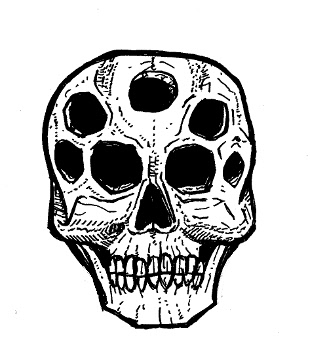 skull drawings, monsters
