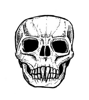 skull drawings,vampire