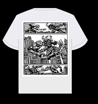 strange shirts, fashion drawing,manga monster