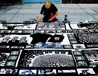 street art comics, characters