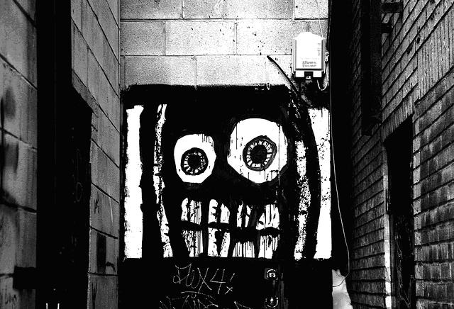street art graffiti, black white artwork