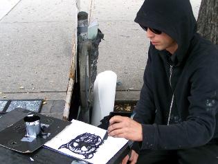 street murals, zombie drawings