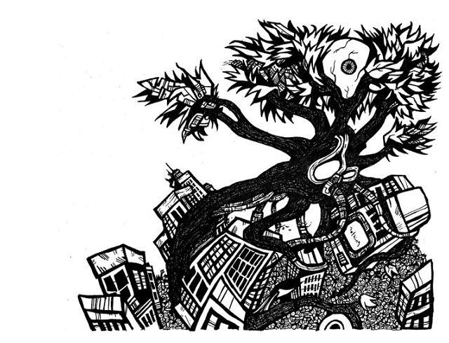 tree drawings, drawings of trees
