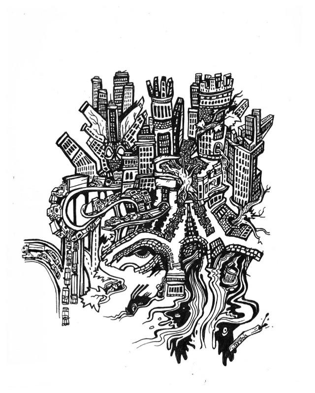 weird castles, surreal comics