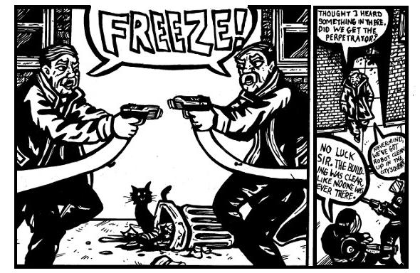 police comics,free comics online, weird stories, weird drawings,monster drawings