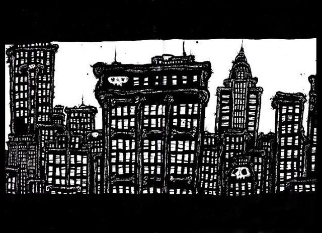 New York Drawings, pen and ink artwork,