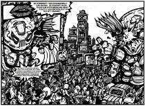 black and white art, comic illustration