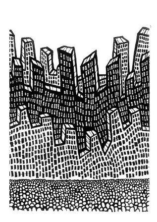black white art, cartoon