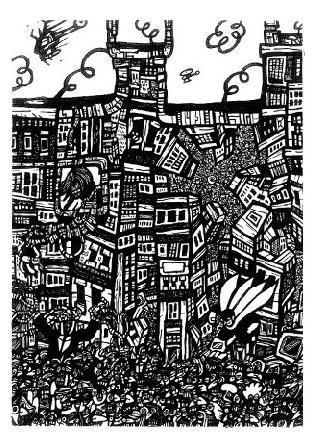 black white art,comic book art