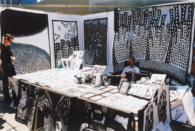 black white drawings, graffiti street art