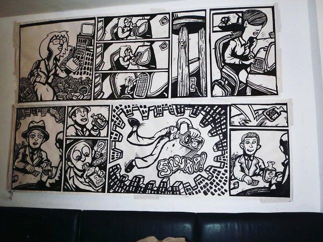 cartoon drawings, comic book drawings