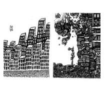 comic book drawings, black white art