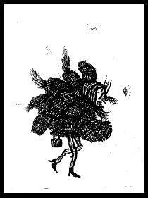 dark drawings bird lady