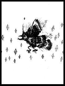 dark drawings, birds