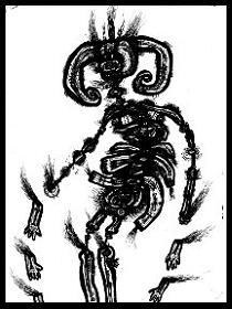 dark drawings,devilman