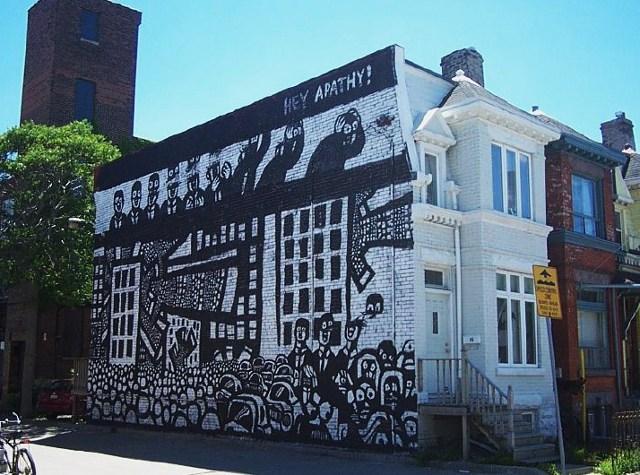 draw graffiti, outdoor wall art