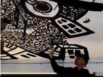 draw graffiti,ceiling murals