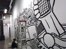 draw graffiti, comic murals