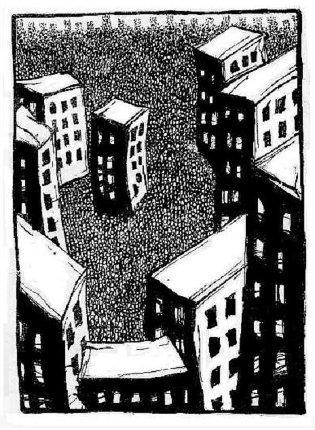 existential art, dada, ink drawings