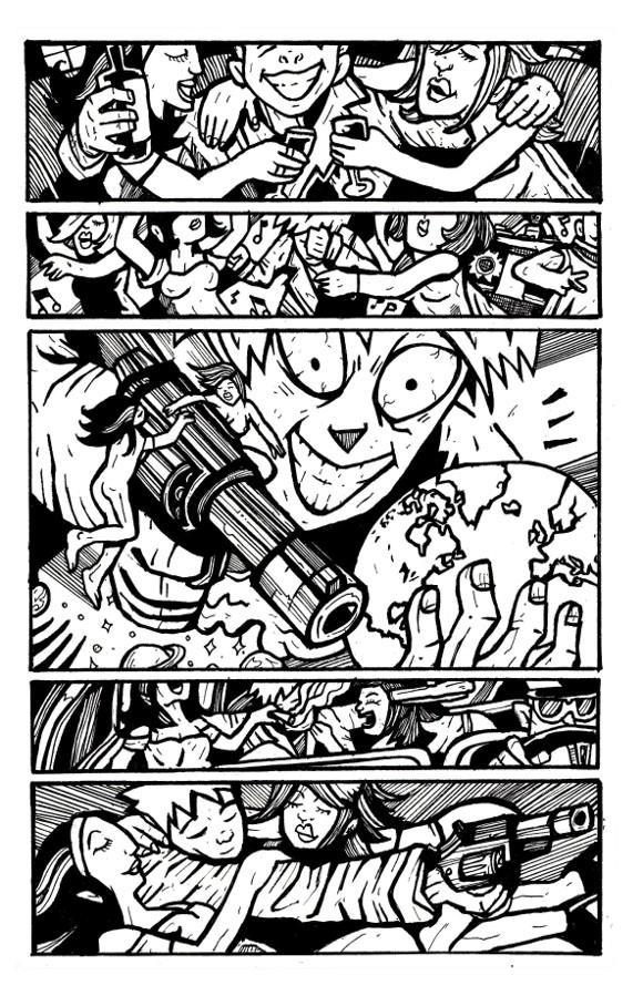 online comic books, gun stories