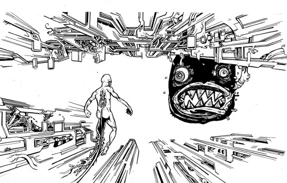 monster drawings,