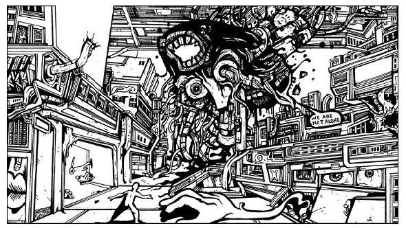 monster drawings, monster comics