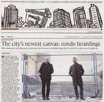 Mike Parsons, outdoor artwork, Globe & Mail