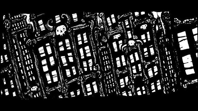 New York Drawings,pen and ink artwork, manhattan , gothic