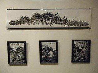 pen drawings, comic book art